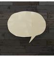 speech bubble on wooden texture vector image