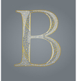 Abstract golden letter B vector image vector image