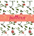 beautiful floral pattern of rose flowers vector image vector image