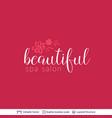 beauty spa salon cosmetologist logo design vector image