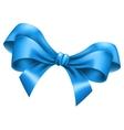 Big blue bow vector image vector image