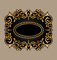 black frame with golden ornament vector image vector image
