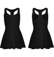 black women dress vector image vector image