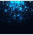 blue glowing light glitter background vector image vector image