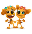 boy dog and girl dog friends friendship day vector image vector image