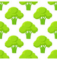 broccoli green head or flower bud seamless pattern vector image vector image