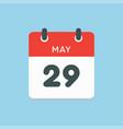 calendar day 29 may days year vector image vector image