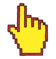 cartoon image of hand cursor icon pointer symbol vector image vector image
