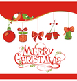 Christmas card with icons vector image vector image