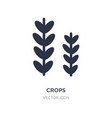 crops icon on white background simple element vector image vector image