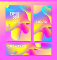 design template in trendy vibrant gradient vector image vector image