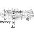 do you suffer from grasshopperitis vector image vector image