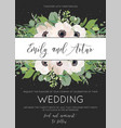 elegant floral wedding invite save the date card vector image vector image
