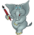 Elephant Painter vector image vector image