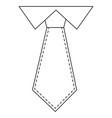 executive tie fashion vector image vector image