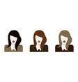 flat woman icons set vector image vector image