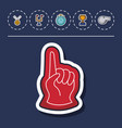 foam finger icon vector image