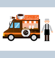 food truck coffee vector image vector image