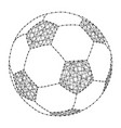 football from polygonal black lines and dots of vector image