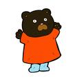 funny comic cartoon black bear vector image vector image