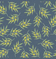 green olive tree branches seamless pattern vector image
