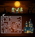halloween maze games find the zombies to the ghost vector image vector image