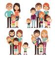 happy family families mother father kid brother vector image