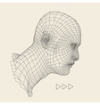 Head of the Person from a 3d Grid Human Face vector image vector image