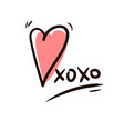 hugs and kisses icon isolated vector image