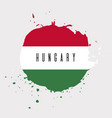 hungary watercolor national country flag icon vector image vector image