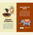 india travel symbols and tourism landmarks vector image vector image