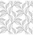 monochrome seamless floral pattern vector image vector image