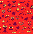 monsters faces seamless vector image