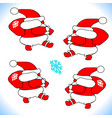 new year christmas santa claus goes carries vector image