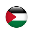 palestine flag on button vector image