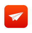 paper airplane icon digital red vector image vector image