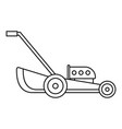 petrol grass cut machine icon outline style vector image vector image