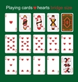 Playing cards Hearts Bridge size vector image vector image
