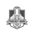 podcast logo icon design vector image vector image
