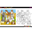 purebred dogs coloring book vector image vector image