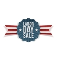 Realistic Banner with Labor Day Sale Text vector image