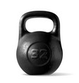 realistic rough black kettlebell 32 kg vector image