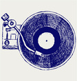 Record player vinyl record vector image vector image