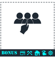 Recruitment icon flat vector image vector image