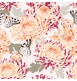 Seamless japanese chrysanthemum and butterfly vector image vector image