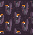seamless pattern with cute jungle parrot toucan vector image vector image