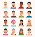 set of avatars icons men and women of different vector image vector image