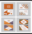set of creative and clean business card template vector image vector image