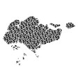singapore map gdp mosaic of dollar and dots vector image