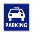 Taxi parking sign vector image